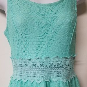 Xhilaration Dresses - 🌟SALE🌟Xhilaration mint green lace eyelet dress S